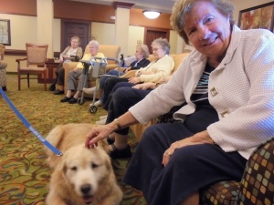 Breeze the Therapy Dog, Willows of Arbor Lakes Senior Living, Maple Grove, MN