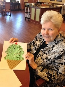 Ice Cream Craft, Willows of Arbor Lakes Senior Living, Maple Grove, MN