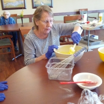 Baking Birthday Cakes-Willows of Arbor Lakes-Mixing ingredients